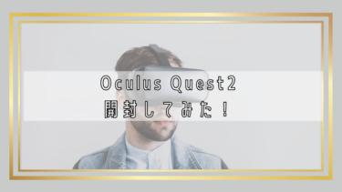 Oculus Quest2を開封してみた